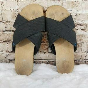 Dr. Scholl's Cork Slide Sandals